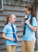 Childrens Short Sleeve Tie Shirt